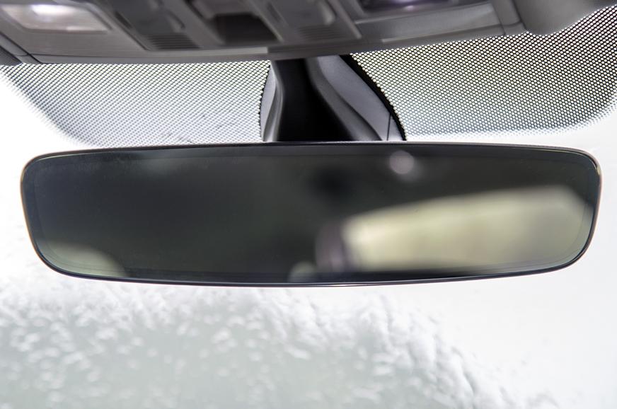 VW's frameless mirror is classy.