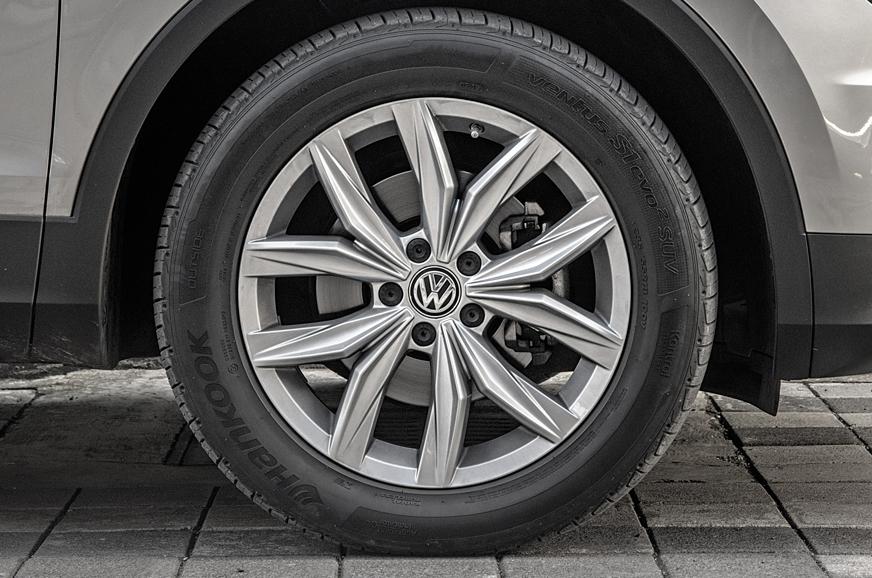 Tiguan's self-sealing tyres are handy.