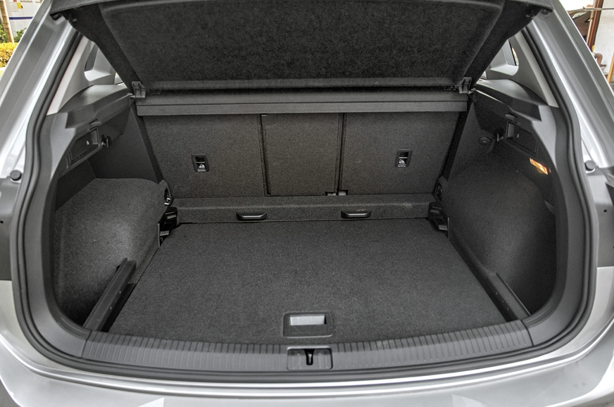 The Tiguan's 615-litre boot can be further expanded to 16...