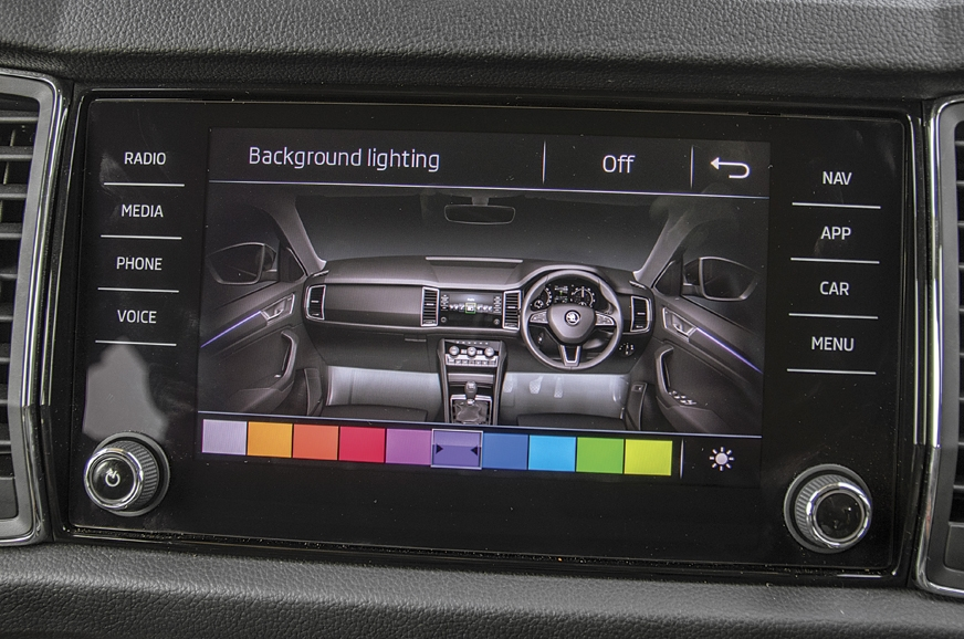 Skoda's 8.0-inch touchscreen is vibrant and supports Appl...