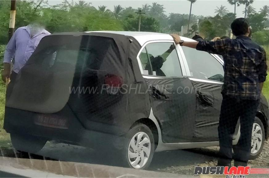 Hyundai's Maruti Celerio rival spied recently.