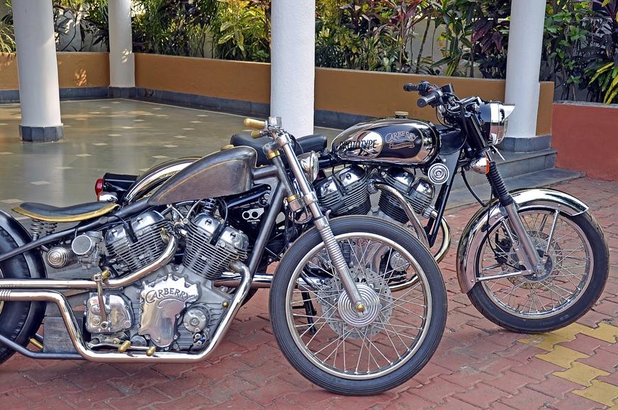 The Rag & Bones custom bike with the Carberry prototype.