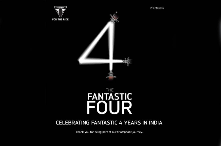 Triumph Motorcycles completes four years of operations in India