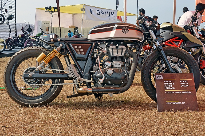Believe it or not but this custom bike was once a bog sta...