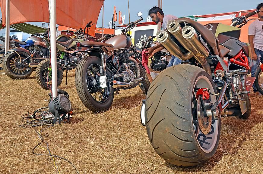 More custom bikes on display.