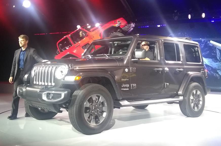 The new Jeep Wrangler showcased at the 2017 LA Auto Show.