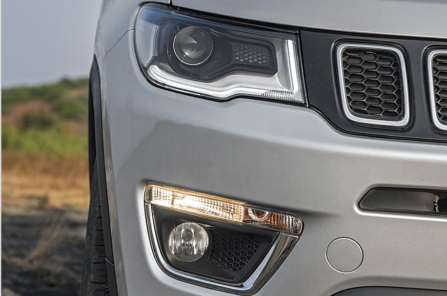 LED on headlight is parking light. Halogen light lower do...