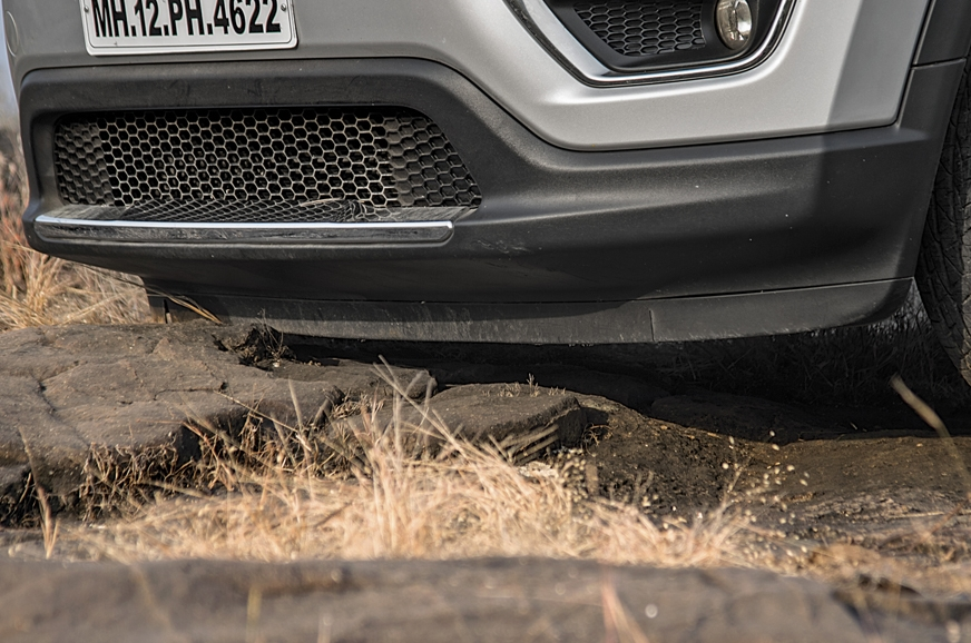 Lip at base of front bumper extends really low but is des...