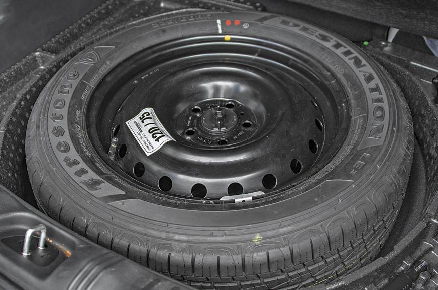 The Compass gets a full-size spare tyre. Adds confidence ...