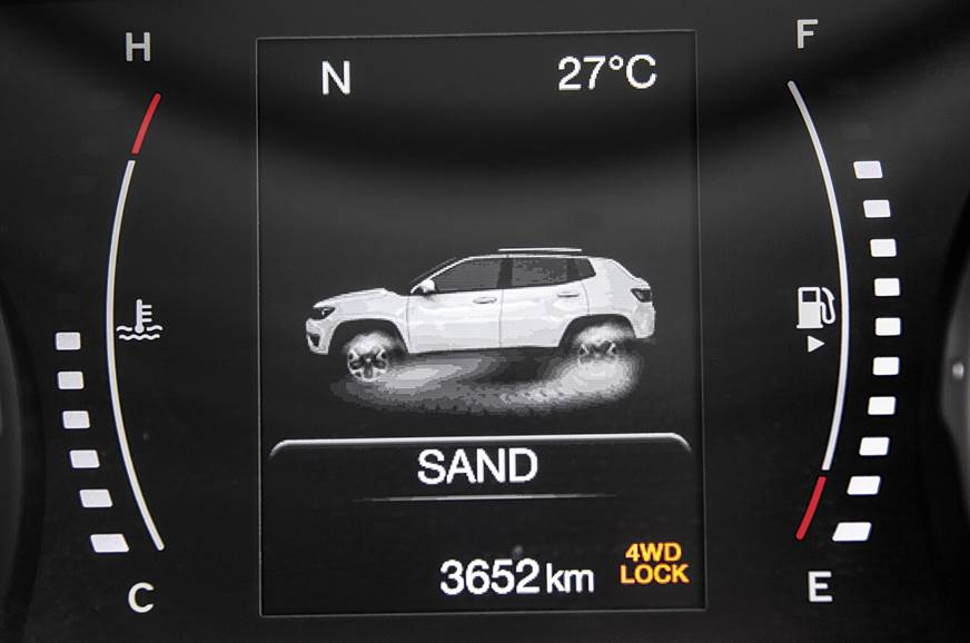 Multi-info display provides lots of data. 4x4 version get...