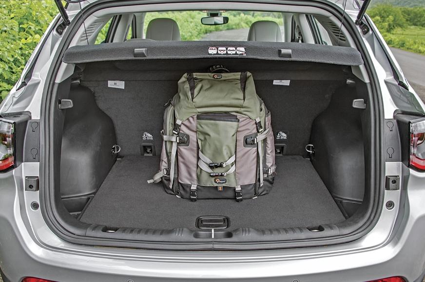 438-litre boot is reasonably sized. 60:40 split rear seat...