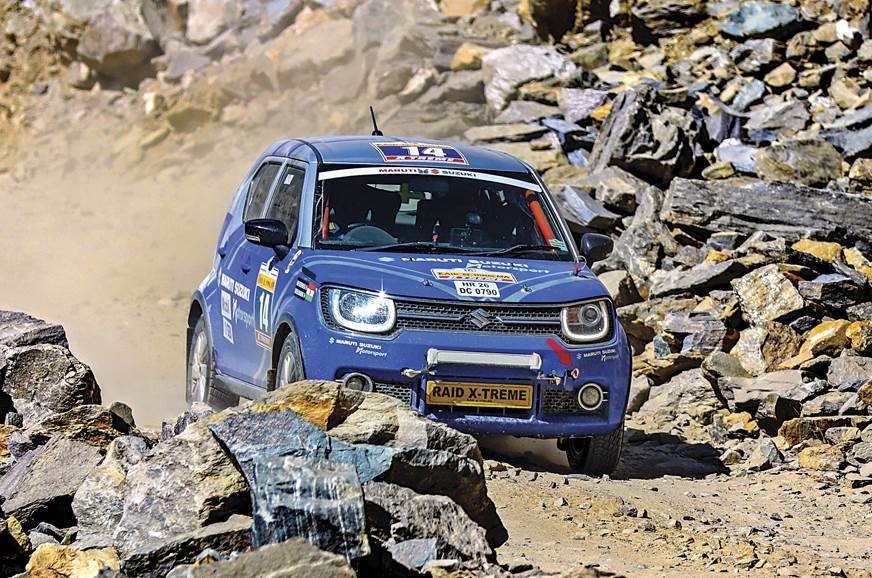 The Ignis made its rallying debut in the 19th Maruti Suzu...