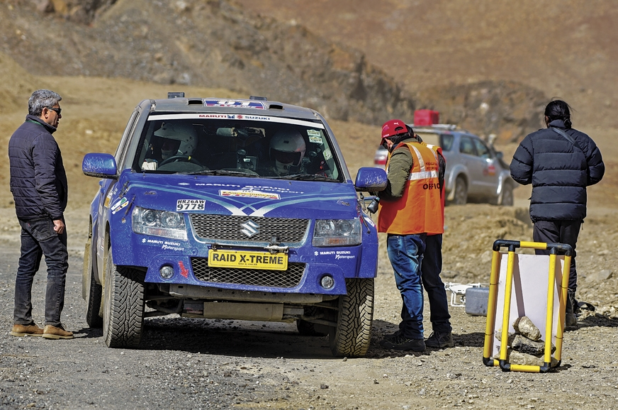 Marshals clock-in Suresh Rana's (quick) time at the end o...