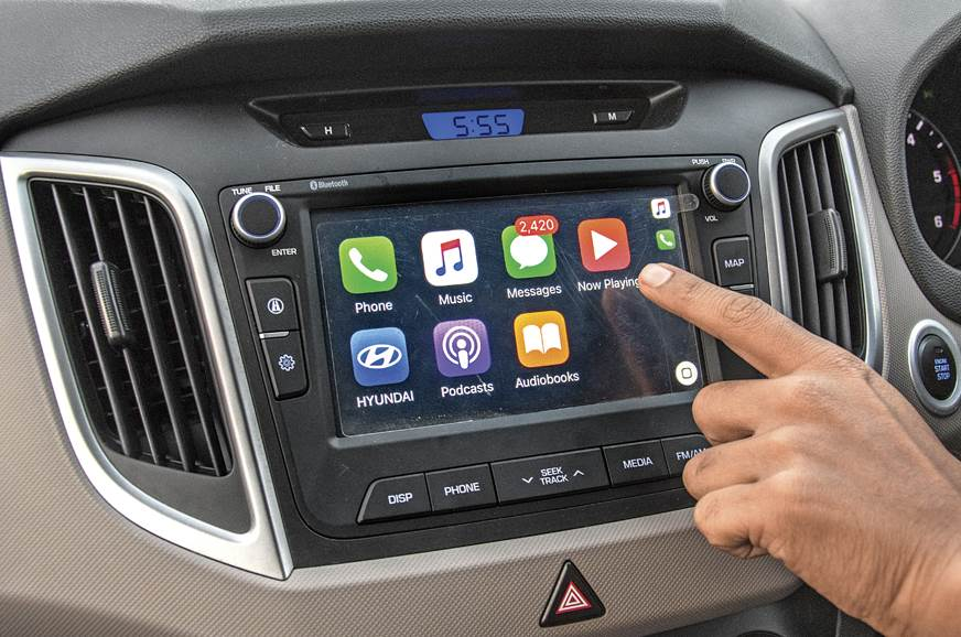 The Creta's infotainment system comes loaded with Apple C...