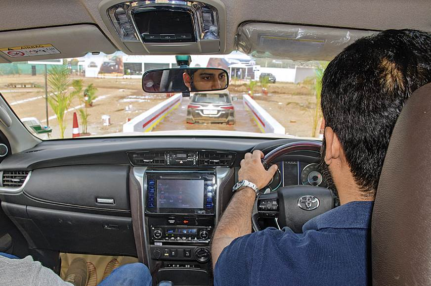 A guest tries out the Fortuner at the water trap.
