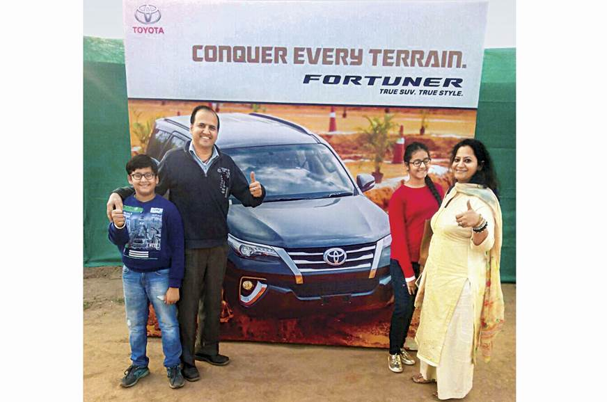 Participant Manish Gupta and his family are elated, havin...
