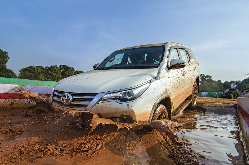 The Toyota Fortuner can wade through an impressive 700mm ...