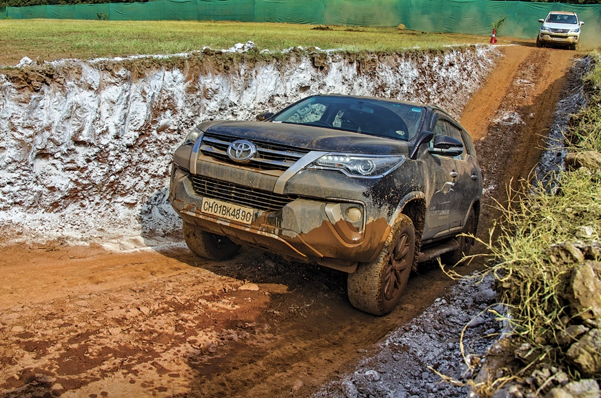The deep ditch allowed the Fortuner to show off its DAC s...