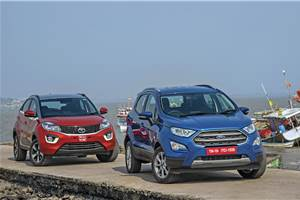 2017 Ford EcoSport vs Tata Nexon petrol comparison