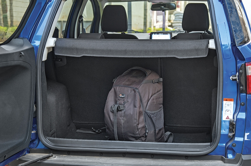 EcoSport's side opening tailgate is not as practical.