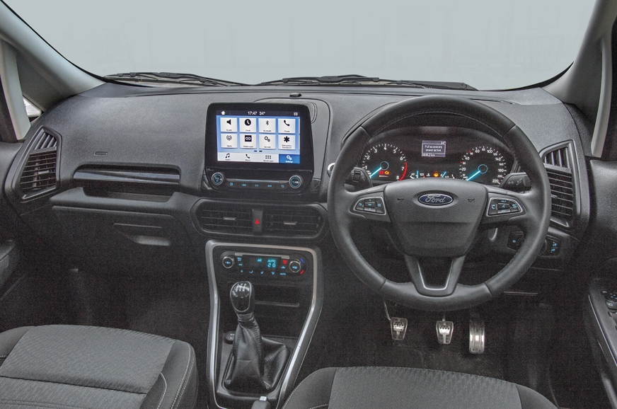 EcoSport dash dominated by a high-res and slick touchscre...