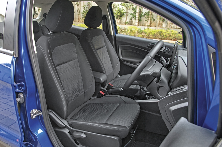 EcoSport's front seats are softer and more supportive.