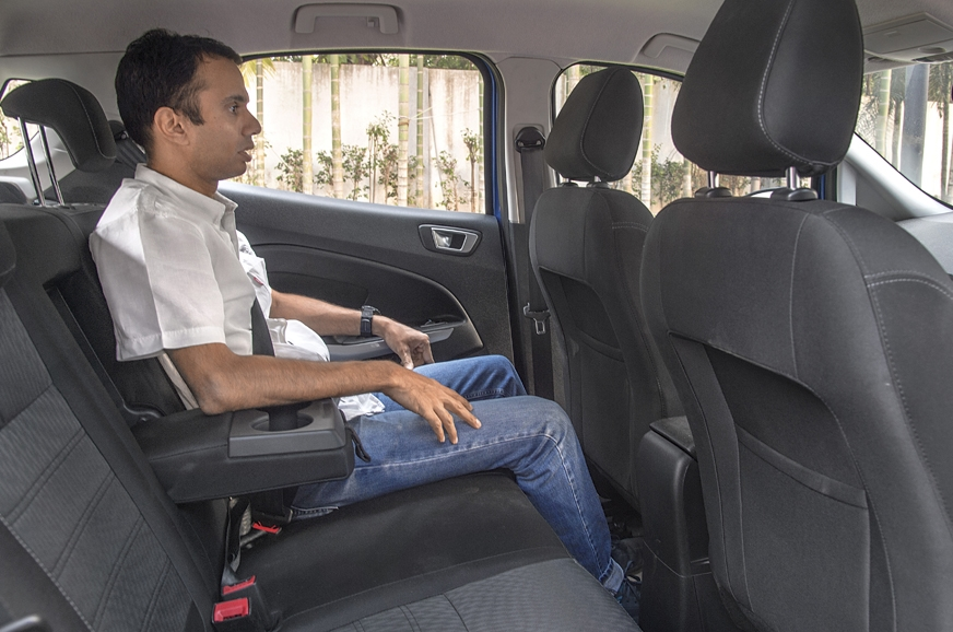 Rear space isn't the EcoSport's strength.
