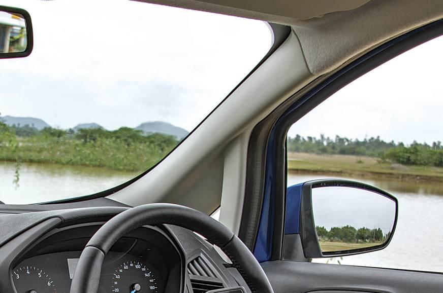 Ecosport's massive A-Pillar blocks corner visibility.