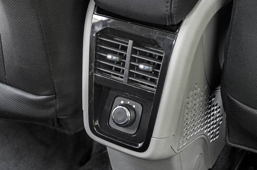 Rear air con vent is a welcome feature on Nexon.