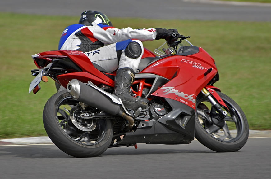The TVS Apache 310 RR's handling manners make it suitable...