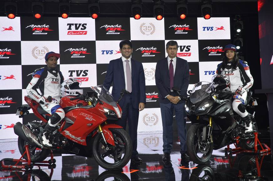 2018 TVS Apache RR 310 launched at Rs 2.05 lakh