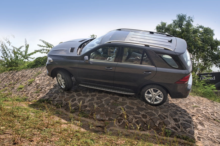 The GLE 350d 4MATIC tackled steep declines and daunting s...