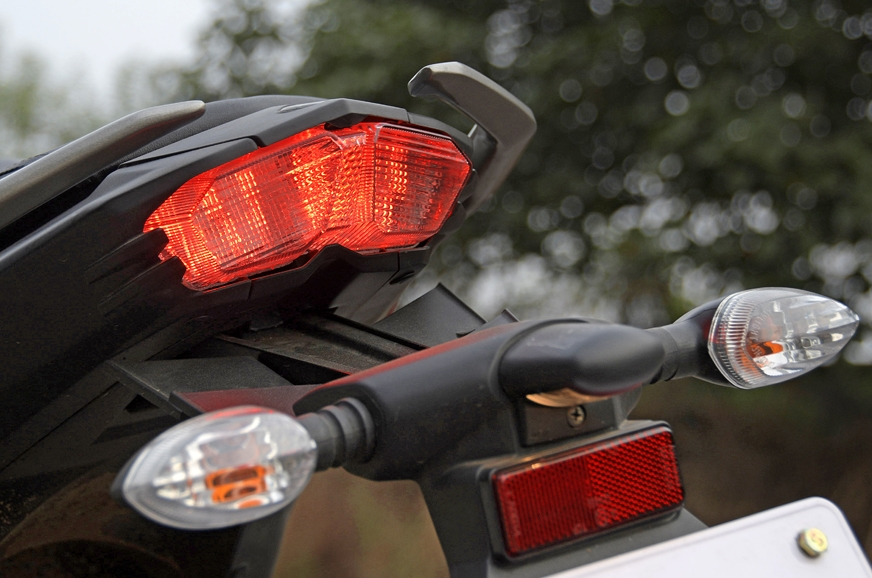 Tail-light could have done with a redesign for the Fazer 25.
