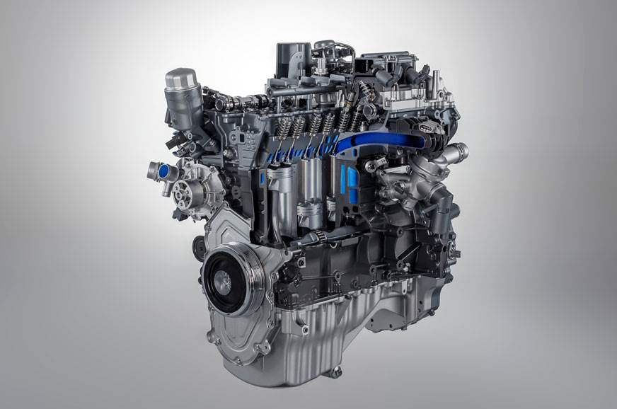The new 2.0-litre petrol engine from JLR's Ingenium serie...