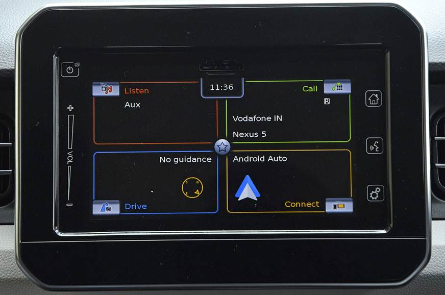 The SmartPlay infotainment system on the Maruti Ignis.