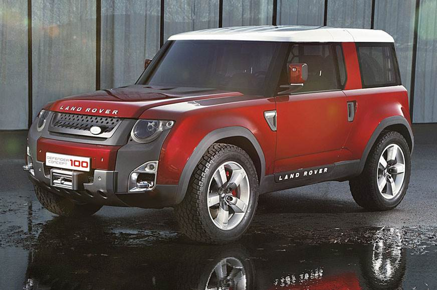 The Land Rover Defender DC100 concept that was showcased ...