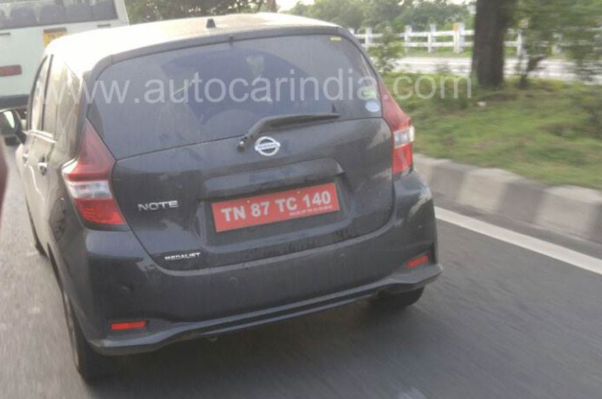 Nissan Note e-Power spied testing in India
