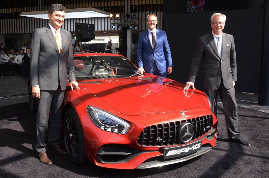 Right to left: Roland Folger, MD & CEO Mercedes-Benz Indi...
