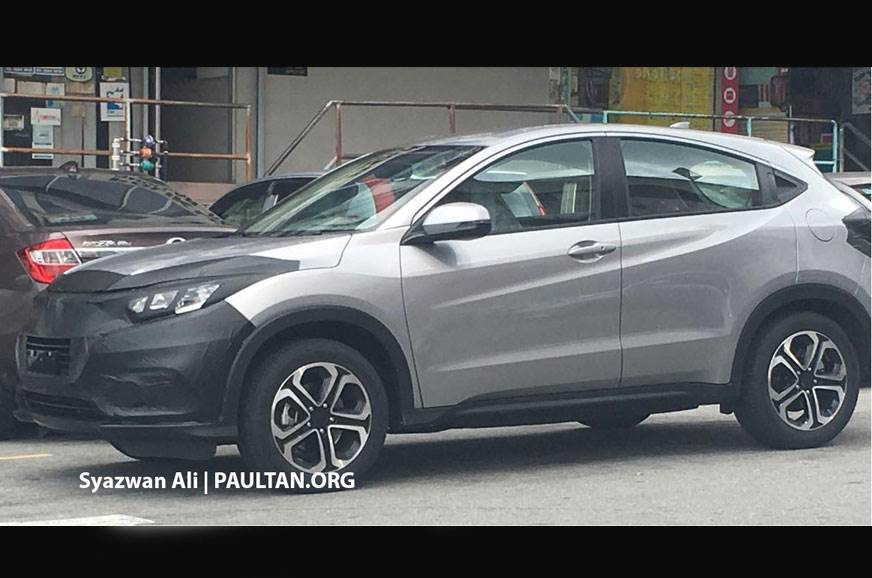 India-bound Honda HR-V facelift spied