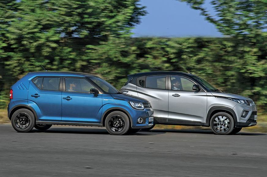 2017 Maruti Ignis vs Mahindra KUV100 NXT diesel comparison - Autocar India