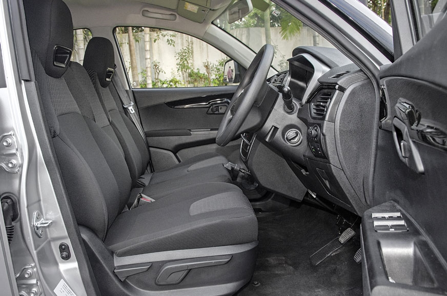 Interior space is one of the KUV100's highlights, as is t...