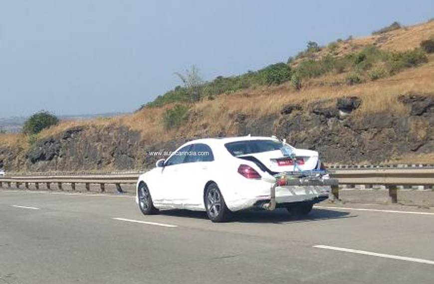 Mercedes S-class facelift spied in India