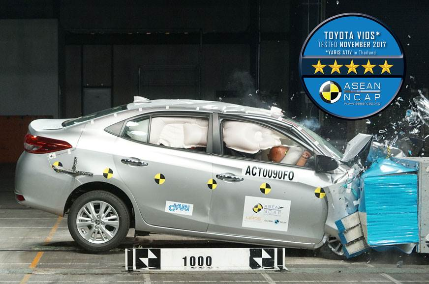 2018 Toyota Vios achieves five-star ASEAN NCAP rating