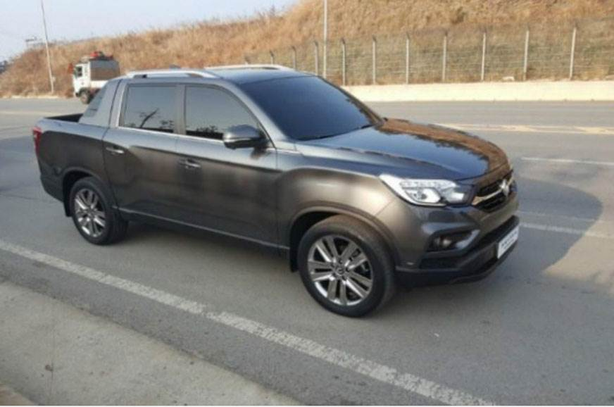 SsangYong Rexton Sports spied in South Korea