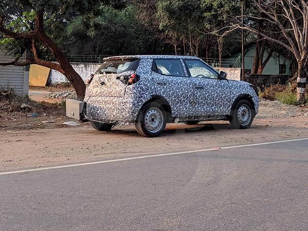 New Mahindra compact SUV spied