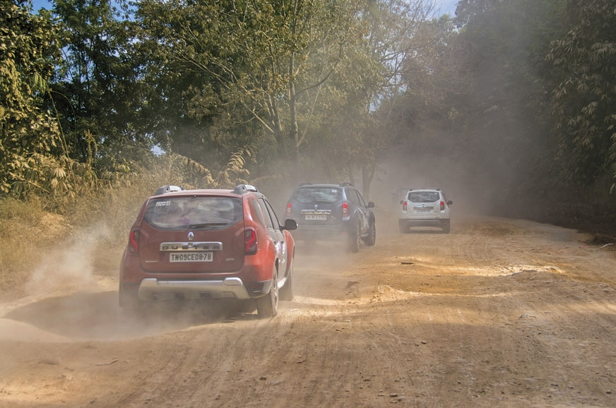 The Dusters tackle rutted, dusty roads with remarkable ease.