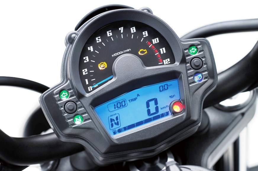 Analogue and digital instrument cluster is unique in this...