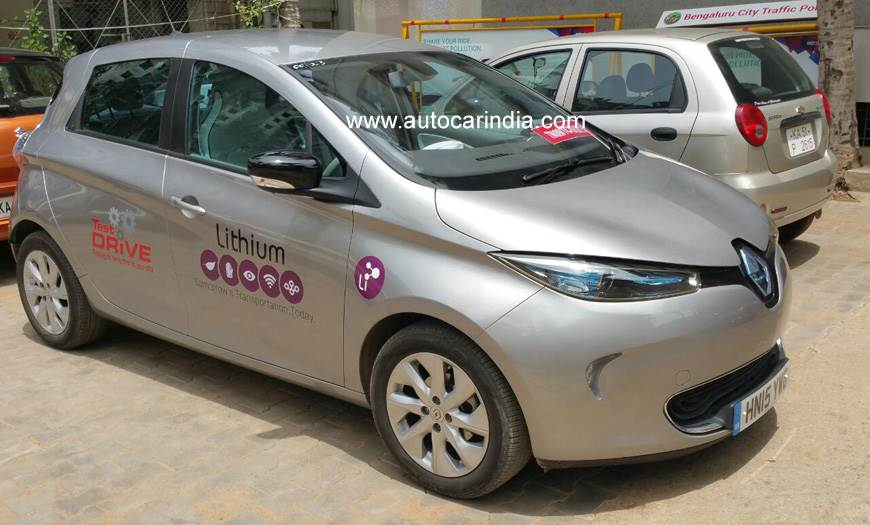 Renault Zoe EV spotted testing in India
