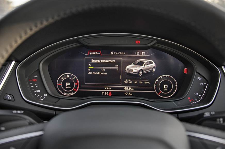 Virtual cockpit dials are configurable.