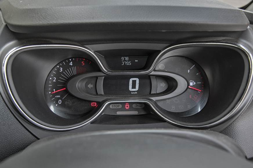 The Digital speedo is the centrepiece of Captur's unique ...